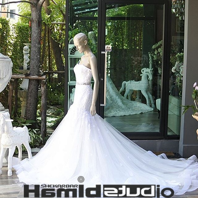 لباس عروس دنباله دار