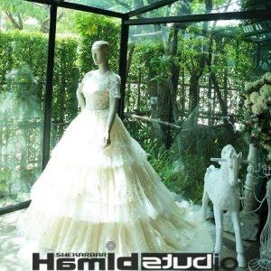 لباس عروس پفی